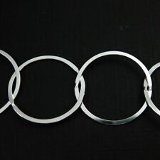 Sterling Silver Bulk Chain-Unfinished- Extra Big Circle Flat Cable Chain-22mm