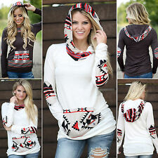 New Womens Casual Hooded Sweatshirt Pullover Hoodie Coats Outerwear Jumper Tops