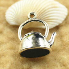 Hot 30-1000pcs Antique Silver Teapot Charms Pendant Jewelry DIY StereoScopic