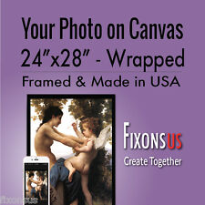 """Custom Gallery Wrapped Canvas, Your Photo on Canvas Print - 24""""x28"""""""