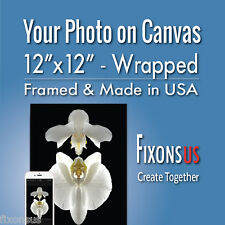 """Custom Gallery Wrapped Canvas, Your Photo on Canvas Print - 12""""x12"""""""