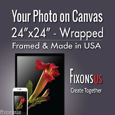 """Custom Gallery Wrapped Canvas, Your Photo on Canvas Print - 24""""x24"""""""