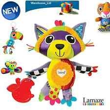 LAMAZE SOFT TOY RANGE  RYLIE THE RACCOON  TEETHER  BABY SOFT TOY PRAM