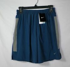 "NIKE 7"" MEN'S TEMPO 2-in-1 RUNNING SHORTS BLUE SZ S ,XL  # 640135-411 -NWT"