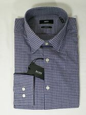HUGO BOSS MARLOW US BLACK LABEL DRESS SHIRT SHARP FIT MULTICOLOR CHECKED -NWT