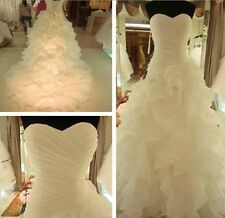 Tutu Strapless White Wedding Dress Bridal Gown Custom Size 6/8/10/12/14/16/18+