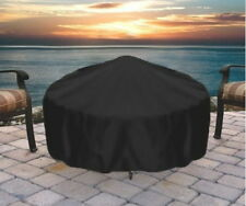 Round Fire Pit Cover Black Firepit Tarp Fire Bowl Protector Fire Pot Vinyl New