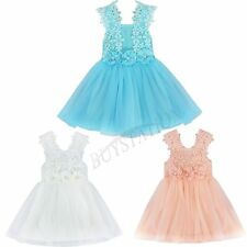 Princess Baby Girls Tulle Flower Party Dress Gown Formal Wedding Casual Dresses