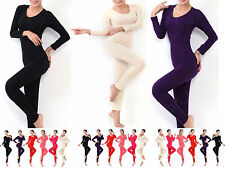 Womens 2PC Thermal Underwear Set Top Bottom Long John Waffle Sleepwear Pajamas