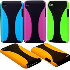 fit iPod touch 4th 4 th 4g itouch case cover neon purple blue green orange black