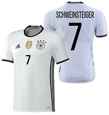 ADIDAS GERMANY EURO 2016 B. SCHWEINSTEIGER AUTHENTIC PLAYERS HOME ADIZERO JERSEY