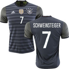 ADIDAS GERMANY EURO 2016 B. SCHWEINSTEIGER AWAY JERSEY Dark Grey Heather