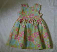 Gymboree PALM SPRINGS Green Ruffle Floral Dress NWT 3T 4T Peek-a-boo back! Cute!