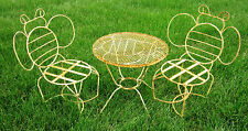 Wrought Iron Childrens Bumblebee  Table and Chair Set