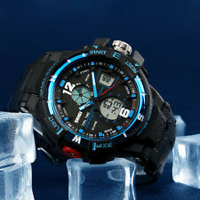 Luxury Men's Army Digital Analog Waterproof Alarm Rubber Strap Mens Wrist Watch