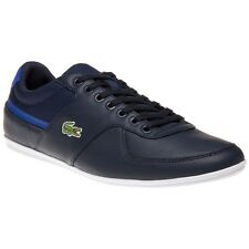 New Mens Lacoste Blue Taloire Sport Leather Trainers Lace Up