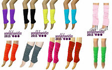 Ladies Girls Ribbed Leg Warmers Ruched legwarmer Tutu Fancy Dress Dance Plain