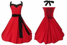 50's Dress Vintage Rockabilly Red Dress Ball Gown Plus Size Party Dresses