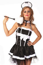 Ladies Costume Fancy Dress Up French Maid Cleaner Sz 6,8,10,12,14,16