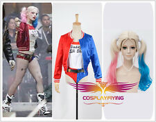 Film Suicide Squad Harley Quinn Cosplay Costume With Wig