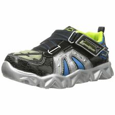 Skechers S LIGHTS DATAROX HYDROMETER Toddler Boys Black Silver Sneakers Shoes