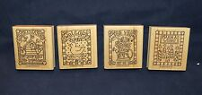 "Retired 1998 Stampin' Up ""Gifted Greetings"" Rubber Stamp Sets!   4pc"