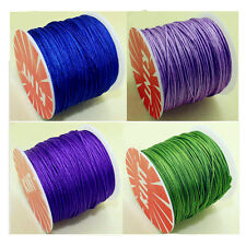 Hot 7 Colors 100Y Nylon Macrame Cords DIY Braided Bracelet Beading Threads 1mm