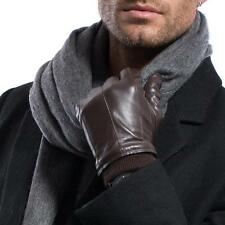 On Sales Men Winter Warm Lambskin leather with Cuffs Motorcycle Driving Gloves