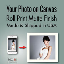 Custom Canvas Roll Print, Your Photo on Canvas Print, Matte Finish