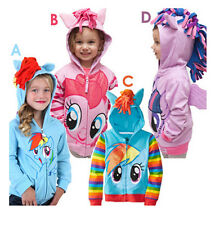 Baby Toddler cartoon My Little Pony Hooded Outerwear Jacket YF222