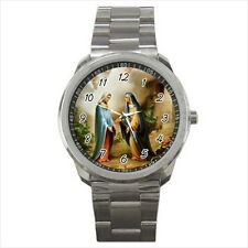 NEW Wrist Watch Stainless Blessed Thou Amongst Woman Holy Mary Catholic