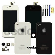For iPhone 4 4S Replacement Front Back Glass LCD Touch Screen Digitizer Cover