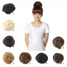 Fashion Women Clip in/on Pony Tail Hair Bun Hairpiece Hair Extension Scrunchie