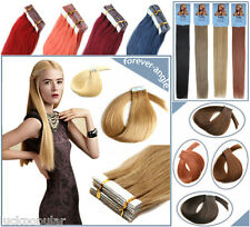 Brazilian Natural Remy Human Hair Extensions Tape In PU Weft 16''-26'' Straight