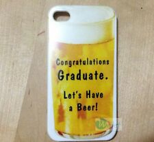 GRADUATION Gifts Funny Let Drink Beer Hard Back Cover Case for iPhone 5 5S 4 4S