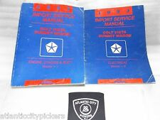 1993 DODGE COLT EAGLE SUMMIT VISTA WAGON 2 VOLUME SERVICE SHOP REPAIR MANUAL SET
