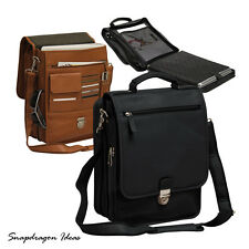 SnapdragonIdeas The Reporter Bellino Leather Computer Vertical Briefcase P6079