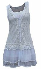 Pretty Angel Clothing Lady Chantal Lace Two Piece Tunic In White S M L XL 66565