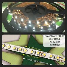 "0,5-5M Metre LED Band warm white 120LED`s/m Strip 3528 12V ""german From dealer"""