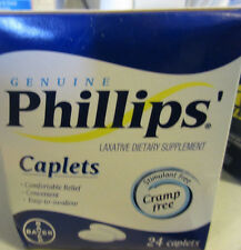 Lot of 2 Phillips' Laxative Caplets 24 Caplets  3/2016, 7/2017