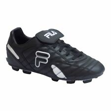 Fila FORZA III RB Mens Black White Laced Athletic Outdoor Soccer Cleats