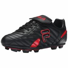 Fila FORZA III RB Mens Black Fila Red Laced Athletic Outdoor Soccer Cleats Shoes