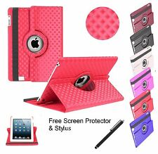 3D Diamond 360°Rotating Leather Smart Stand Case Cover For APPLE iPad Mini 1/2/3