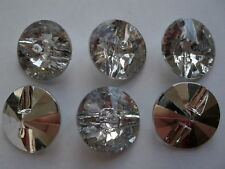 10 to 100 Round Plastic Crystal 1 Hole Rhinestone Faux Buttons -Buy 3 Get 1 FREE