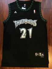 NBA Minnesota Timberwolves Kevin Garnett Throwback Swingman Sewn Black Jersey