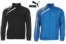 MENS PUMA SPIRIT WOVEN SPORTS JACKET CASUAL ZIP UP TOP BLACK BLUE SIZE: S-XXXL