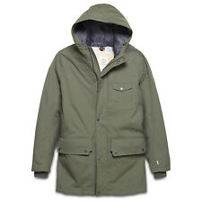 Timberland Mens Coat Khaki HyVent Rollins Mountain 2 in 1 Waterproof Parka GREEN