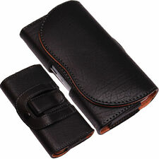 Universal Leather Pouch Belt Clip Loop Hip Case Cover for LG and Nokia Phones