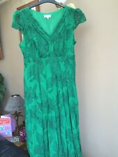 Ladies Crinkle Dress Size 16 By M&s Per Una Range