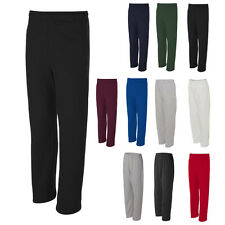 JERZEES Mens Joggers NuBlend Open Bottom Pocketed Sweatpants 974MPR